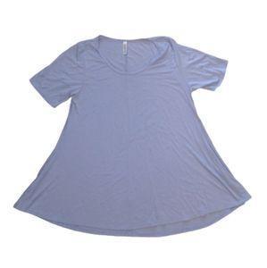 4/$25 LuLaRoe The Perfect Tee Light Blue XL (18-20)